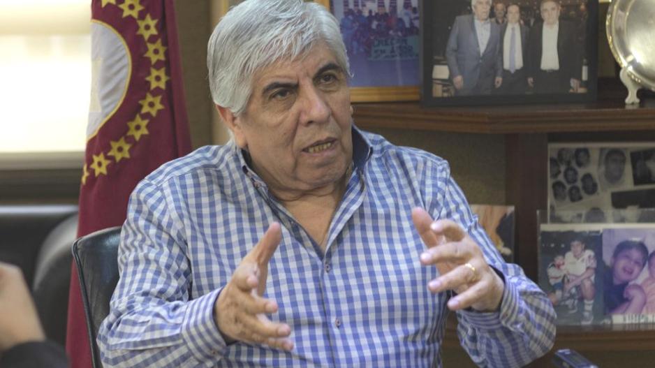Hugo Moyano, secretario general de Camioneros