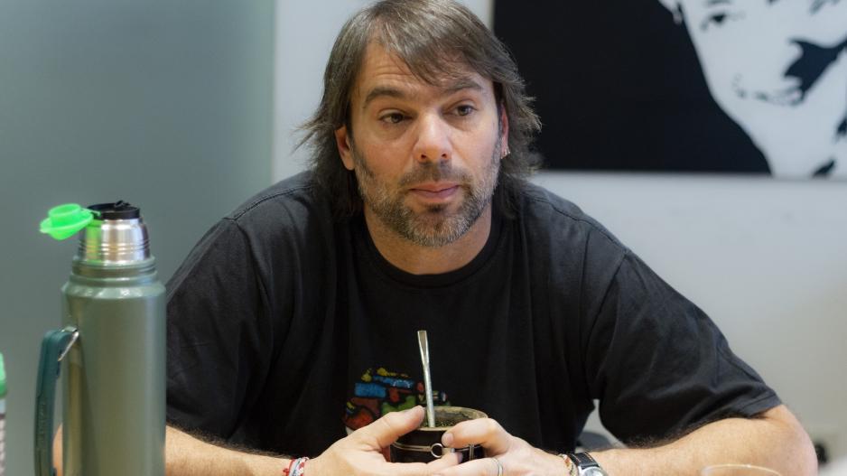 """Daniel """"Tano"""" Catalano, Secretario General de ATE Capital y adjunto de la CTA de los Trabajadores."""