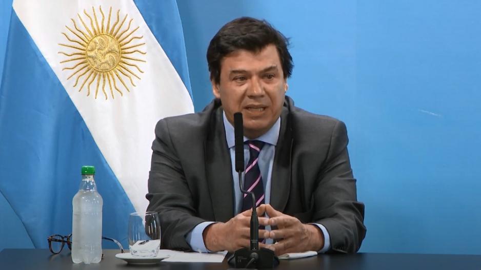 Claudio Moroni, ministro de Trabajo